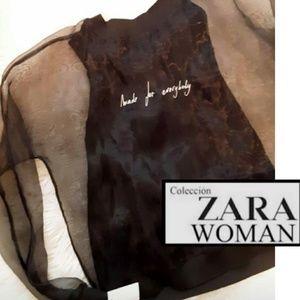 New! Zara Sheer Sleeve Sweatshirt!🖤